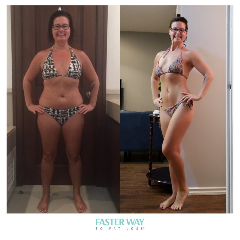 Before and after FASTer Way To Fat Loss