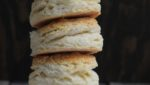 Biscuits stacked up in a pile