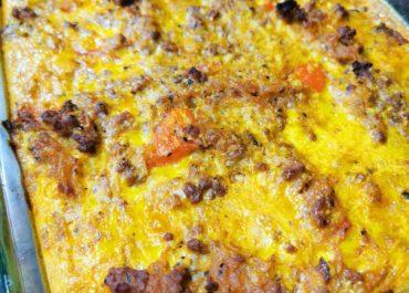 Beef & Spaghetti Squash Bake